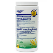 Equate FIBRE LAXATIVE, Unflavoured, Original Texture, Psyllium Hydrophilic Mucilloid for Oral Suspension U.S.P. (3.4 g per 7 g dose), 114 doses