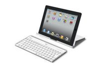 Aluminum Bluetooth® Keyboard with Universal Case Stand - White