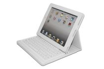 Compagno - White, Bluetooth - Keyboard with Carrying Case for iPad 2
