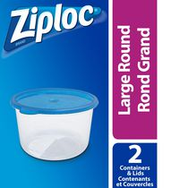 Ziploc brand Contenants Ronds Grand