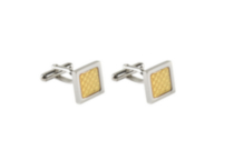 Stainless Steel 2-tone Cufflinks
