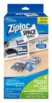 Ziploc® brand Space Bag® 4pk Dual Use Flat Combo Bags