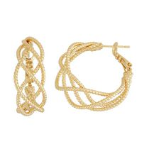 Brass and 14kt Gold Plated 30mm Hoop Earrings