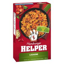 Pâtes lasagne Helper de Hamburger