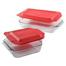 Pyrex®  Basics 2Qt (2.8L)& 3Qt (1.9L) 4 Piece Set