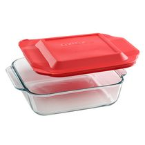 Pyrex® Basics 8In/20Cm Square Red Lid