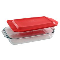 Pyrex® Basics 3Qt/2.85L Oblong Red