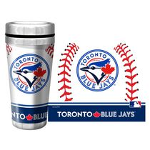 Toronto Blue Jays 16oz. Baseball Stainless Steel Full Wrap Travel Mug