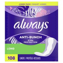 Always Xtra Protection Unscented Long Leakguard + Rapid Dry Liners