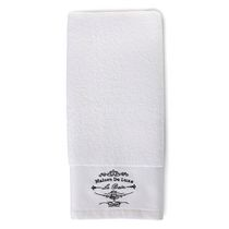 hometrends Jacquard Hand Towel White