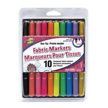 Fabric Fun Duo Tip Fabric Markers 10 Pack