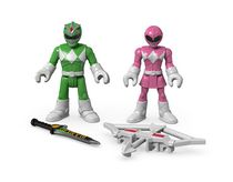 Fisher-Price Imaginext Power Rangers Green Ranger & Pink Ranger Figures