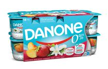 Danone 0% Peach/Strawberry/Vanilla Stirred Yogurt