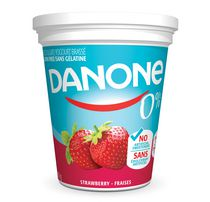 Danone 0% Strawberry Yogurt