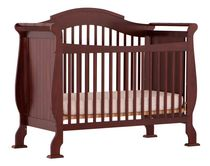 Stork Craft Valentia 4-in-1 Fixed Side Convertible Crib Cherry
