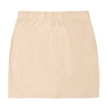 Jupe-short en interlock pour dame George Classics Taupe Grand