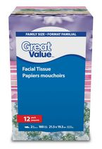 Papier-mouchoir à 2 épaisseurs de Great Value