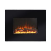 "26"" Wide Wall Mount Firebox in Black"