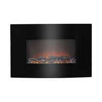 "35"" Wide Wall Mount Firebox in Black"