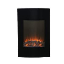 "35"" High Wall Mount Firebox in Black"