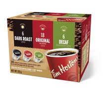 Tim Hortons Single Serve Coffee Cups,  30 Variety Pack