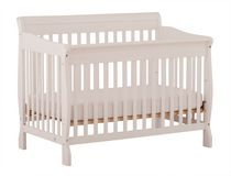 Stork Craft Modena 4-in-1 Fixed Side Convertible Crib White