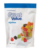 Bonbons jujubes de Great Value en sachet