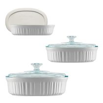 CorningWare® French White® 6 piece Bakeware Oval Set
