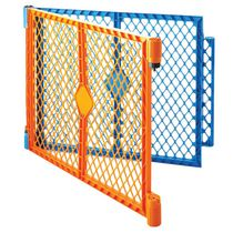 North States  Superyard Colorplay 2-Panel Extension Baby Gate - Blue and Orange