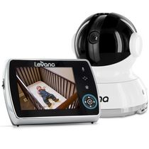 "LEVANA® Keera™ 3.5"" LCD, Pan/Tilt/Zoom Digital Baby Video Monitor with 24hr Battery, Touch Panel, Talk to Baby™ Intercom & SD Video Recording"