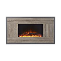 Flamelux Oland 41 Inches Wide Wall Mount Electric Firebox, Reclaimed Wood
