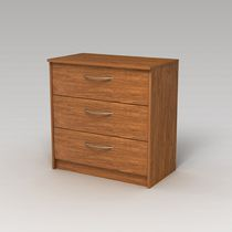 Homestar Finch 3-Drawer Chest Light Brown