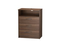 Homestar Finch 3-Drawer TV Chest Walnut