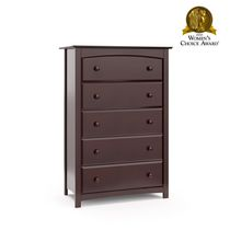 Stork Craft Kenton 5 Drawer Dresser Espresso