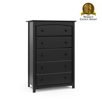 Stork Craft Kenton 5 Drawer Dresser Black