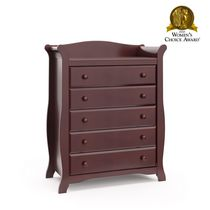 Storkcraft Avalon 5-Drawer Universal Dresser Cherry