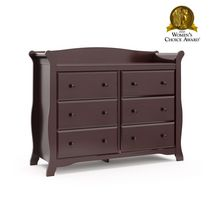 Storkcraft Avalon 6-Drawer Universal Dresser Espresso
