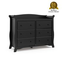 Storkcraft Avalon 6-Drawer Universal Dresser Black