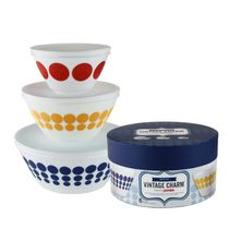 Pyrex® Spot On Vintage Charm 6-Piece Opal Mixing Bowl Set