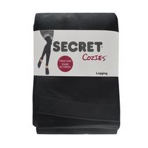 Secret Cozies Fleece Lined Legging Black C/D