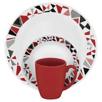Corelle® Livingware™ 16 Piece Mosaic Red Dinnerware Set