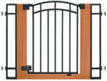 Summer Infant Stylish & Secure™ Metal & Wood Walk Thru Gate