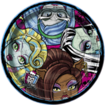 "Monster High 9"" Plates"