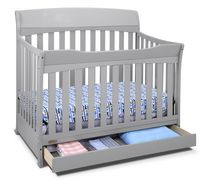 Graco Lennon 4-in-1 Convertible Crib with Drawer - Pebble Gray