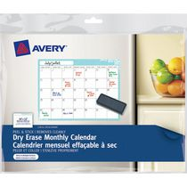 Avery Dry Erase Monthly Calendar 24820, Peel and Stick, 16 x 20""