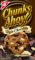 Chunks Ahoy! Triple Chocolate Cookies