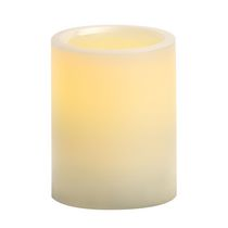 "Flameless 3"" x 4"" Round Smooth Pillar With 5 Hour Timer"