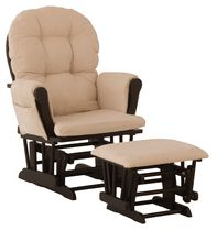 Storkcraft Comfort Glider and Ottoman Black