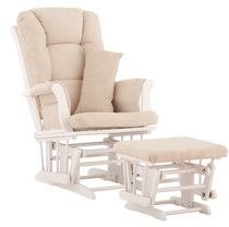 Storkcraft Premium Glider and Ottoman Beige