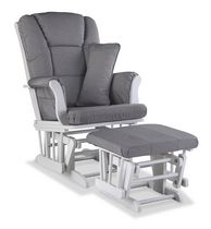 Storkcraft Premium Glider and Ottoman Light Grey